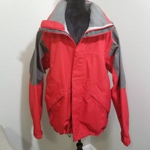 Salomon Ski Jacket Red Gray SZ L